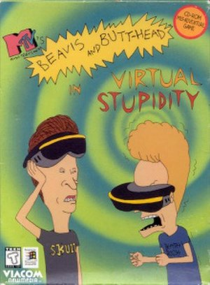 Beavis and Butt-Head in Virtual Stupidity - North American packaging of Beavis and Butt-Head in Virtual Stupidity