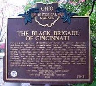 Black Brigade of Cincinnati - Black Brigade of Cincinnati historical marker