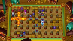 Bomberman Ultra - Players battling each other in an online match