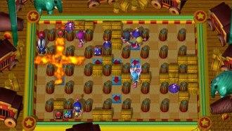 Bomberman Ultra - Players battling each other in an online match