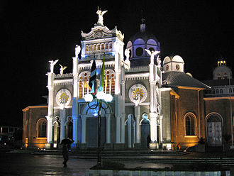Basilica of Our Lady of the Angels, Cartago - Nighttime view