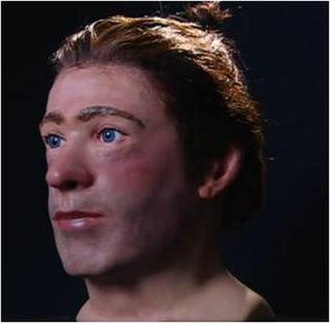 Clonycavan Man - Facial reconstruction of the Clonycavan man, his hairstyle visible.