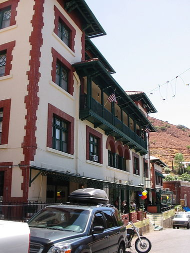 The Copper Queen Hotel in Bisbee Copper Queen Hotel, Bisbee AZ.jpg