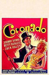 <i>Coronado</i> (1935 film) 1935 film by Norman Z. McLeod