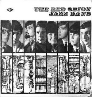The Red Onion Jazz Band - Cover of the first LP 12 inch vinyl disc by The Red Onions Jazz Band, 1965