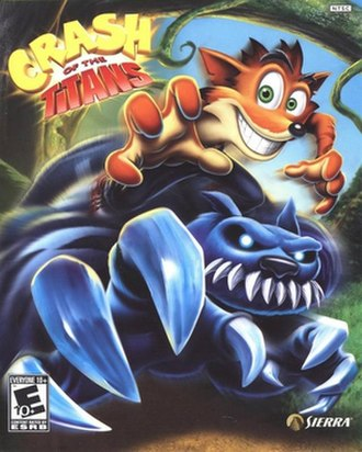 Crash of the Titans - Cover art depicting Crash jacking a Ratcicle