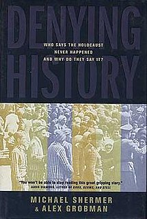 <i>Denying History</i> book by Michael Shermer