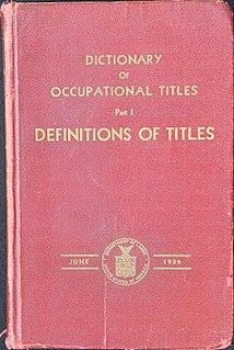 <i>Dictionary of Occupational Titles</i>