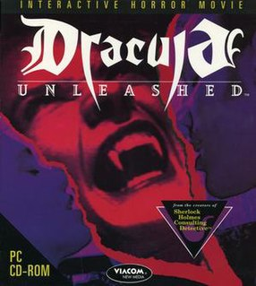 <i>Dracula Unleashed</i> 1993 computer and video game