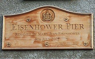 Bangor, County Down - Commemorative plaque on the Eisenhower Pier.