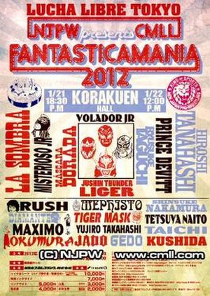 Fantastica Mania 2012 - Promotional poster for the event