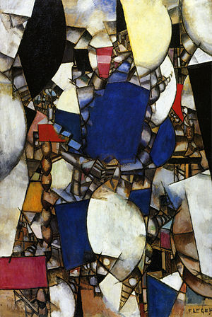 Fernand Léger - La Femme en Bleu (Woman in Blue), 1912, oil on canvas, 193 × 129.9 cm, Kunstmuseum Basel. Exhibited at the 1912 Salon d'Automne, Paris