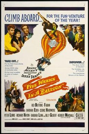 Five Weeks in a Balloon (film) - Original film poster