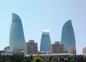 Economy of Azerbaijan - Image: Flame Towers (July 2012)