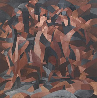 Francis Picabia, 1912, La Source, The Spring, oil on canvas, 249.6 x 249.3 cm, Museum of Modern Art, New York. Exhibited, 1912 Salon d'Automne, Paris.jpg