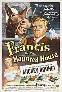 <i>Francis in the Haunted House</i> 1956 film by Charles Lamont