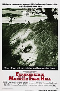 <i>Frankenstein and the Monster from Hell</i> 1974 British horror film directed by Terence Fisher
