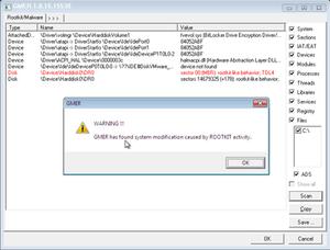 gmer rootkit detection