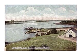 Great Diamond Island - Vintage postcard depicting Great Diamond Island, Casco Bay, and Portland Maine