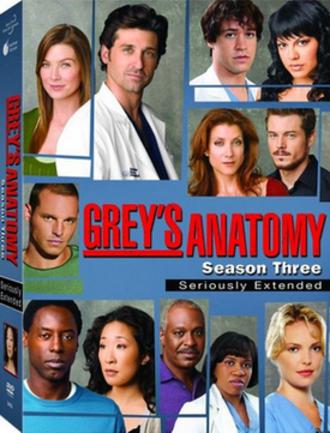 Grey's Anatomy (season 3) - Image: Grey's Anatomy Season Three DVD Cover