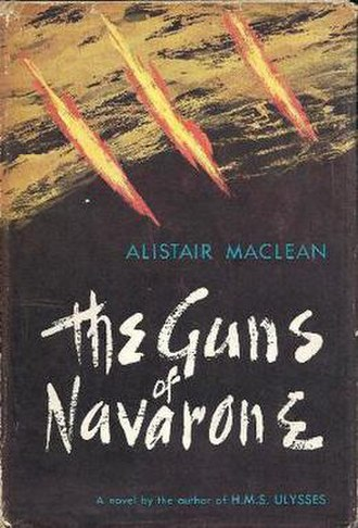 The Guns of Navarone (novel) - First edition cover (UK)