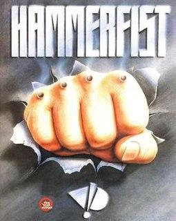 <i>Hammerfist</i> side-scrolling beat em up video game
