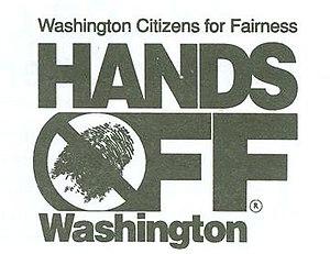 Citizens for Fairness Hands Off Washington - Image: Hands Off Washington logo