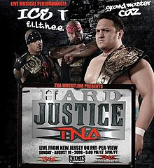 A poster featuring Samoa Joe and The Latin American Xchange posing with the TNA World Heavyweight and TNA World Tag Team Championship belts