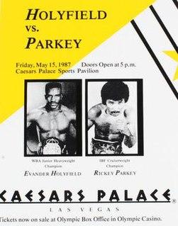 Evander Holyfield vs. Rickey Parkey Boxing match