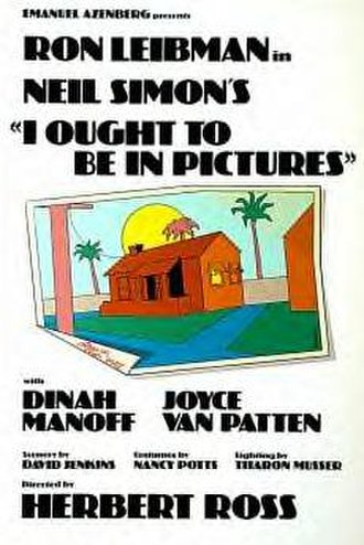 I Ought to Be in Pictures - Poster for Broadway production