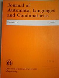 Journal of Automata, Languages and Combinatorics (front cover).jpg