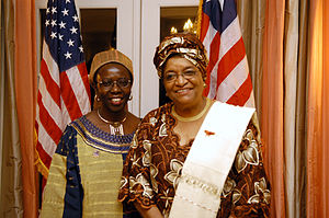 Musimbi Kanyoro - Kanyoro with Ellen Johnson Sirleaf.