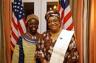 Musimbi Kanyoro - Kanyoro with Ellen Johnson Sirleaf.