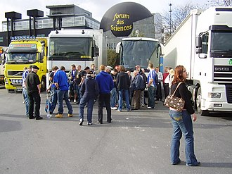 Halmstads BK - Halmstads BK supporters (Kvastarna) in Lens, France, prior to a game against RC Lens in UEFA Cup 2005-06.