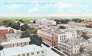 A view of Lakeland's business district, early ...