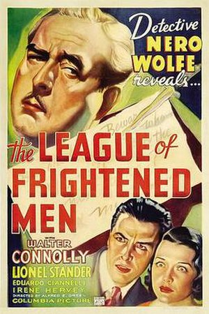 The League of Frightened Men (1937 film) - Theatrical release poster