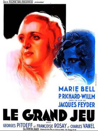 Le Grand Jeu (1934 film) - Theatrical release poster