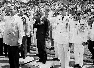 Alfredo M. Santos - General Santos with President Diosdado Macapagal