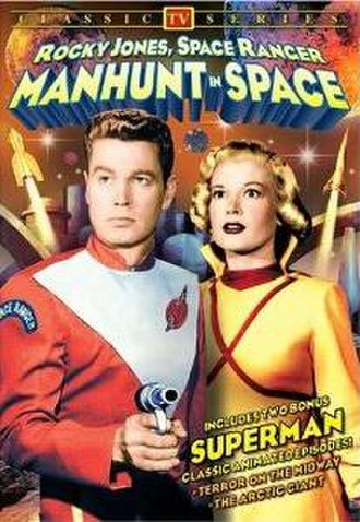 "Manhunt in Space - A DVD cover for ""Manhunt in Space."""