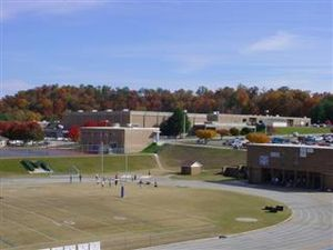 McDowell County, North Carolina - View of McDowell High from the football stadium
