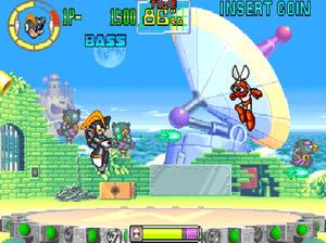 Mega Man: The Power Battle - Bass fighting Cut Man.