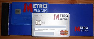 Metro Bank (United Kingdom) - A Metro Bank debit card, credit card and cheque book issued in 2011