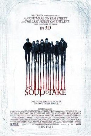 My Soul to Take - Theatrical release poster