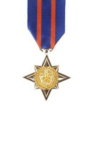 New Zealand Bravery Star - Image: NZ Bravery Star Obv