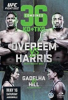 UFC on ESPN: Overeem vs. Harris Fight Poster