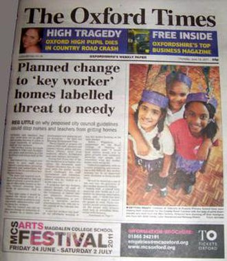 The Oxford Times - Image: Oxford Times Cover