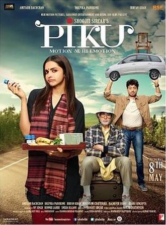 Piku - Theatrical release poster