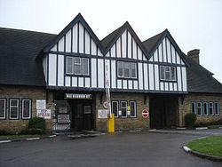 The gatehouse at Pinewood Studios