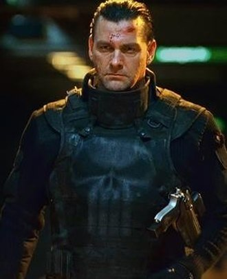 Punisher in film - The character of Frank Castle as portrayed by three actors in film (L-R): Dolph Lundgren in The Punisher (1989); Thomas Jane in The Punisher (2004); and Ray Stevenson in Punisher: War Zone.