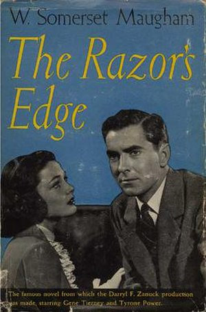 The Razor's Edge - 1946 hardcover edition promoting the first film adaptation